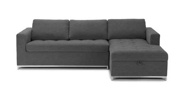 Soma Twilight Gray Right Sofa Bed; In Stock - Article