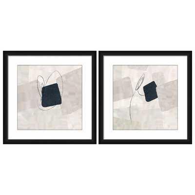 Vertigo Ii - 2 Piece Picture Frame Graphic Art Print Set on Plastic/Acrylic - AllModern