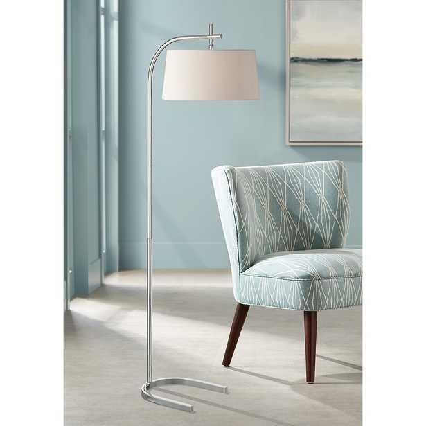 Possini Euro Kessler Polished Nickel Downbridge Floor Lamp - Style # 66Y34 - Lamps Plus