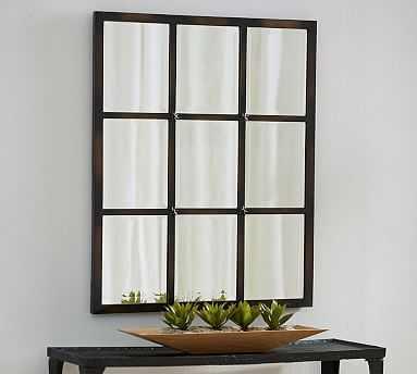 """Eagan Multipanel Small Mirror, 28 x 33"""", Bronze Finish - Pottery Barn"""
