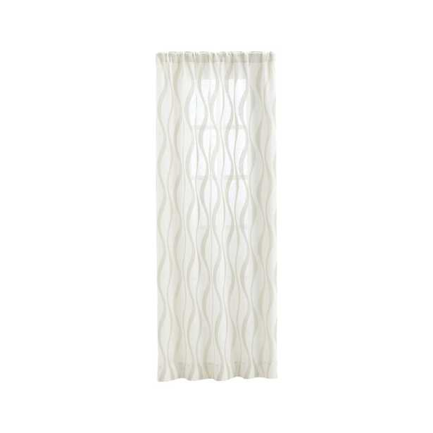 """Elester Ivory Sheer Curtain Panel 50""""x96"""" - Crate and Barrel"""