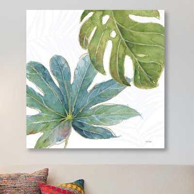 'Tropical Blush VII' Painting Print on Canvas - Wayfair