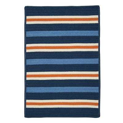 Bucareli Braided Blue Indoor/Outdoor Area Rug - Wayfair