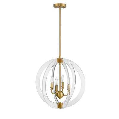 Isabelle 4-Light Globe Chandelier - Wayfair