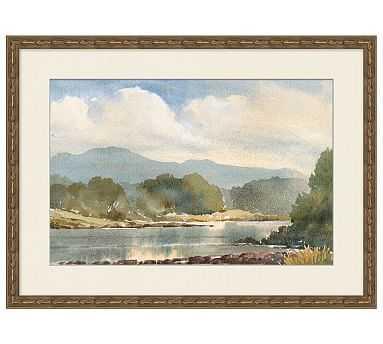 "Summer Plein Air Framed Print 1, 27 x 20"" - Pottery Barn"