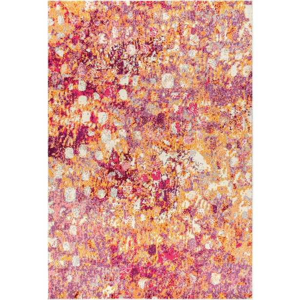 JONATHAN Y Contemporary Pop Modern Abstract Pink/Orange 8 ft. x 10 ft. Area Rug - Home Depot