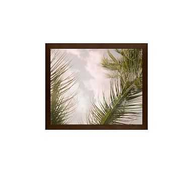 """Airy Palm Tree Framed Print by Jane Wilder, 11x13"""", Wood Gallery Frame, Espresso, No Mat - Pottery Barn"""