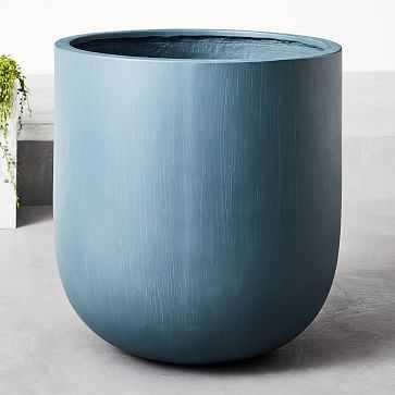 Radius Planters, Petrol Blue, Extra Large - West Elm