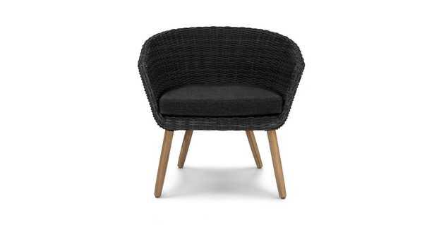 Ora Slate Gray Basket Chair - Article