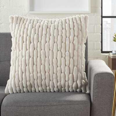 Dejong Textured Solid Throw Pillow - Wayfair