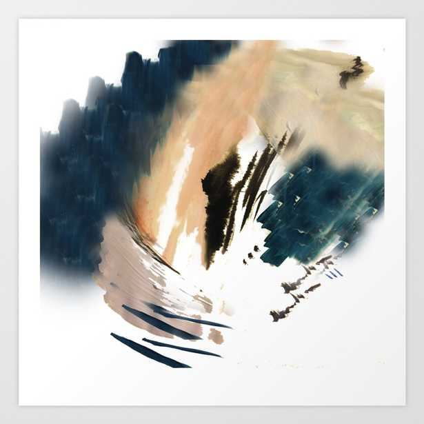 Twilight Wandering - a watercolor and ink abstract Art Print - Large by Blushingbrushstudio - Society6