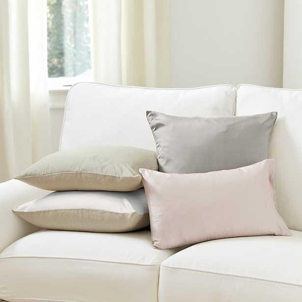 """Ballard Designs Dupioni Silk & Linen Pillow Cover Dusty Rose 12"""" x 20"""" - Ballard Designs"""