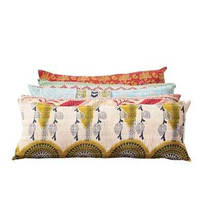 Johnsonburg Vintage Kantha Cotton Lumbar Pillow - Wayfair