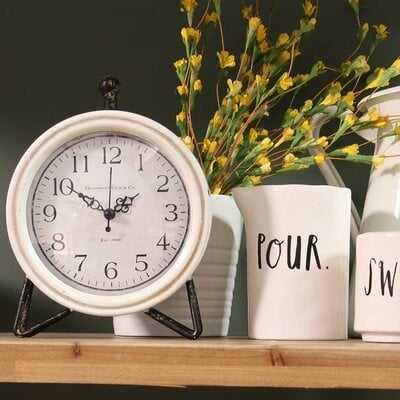 Table Clock - white - Wayfair
