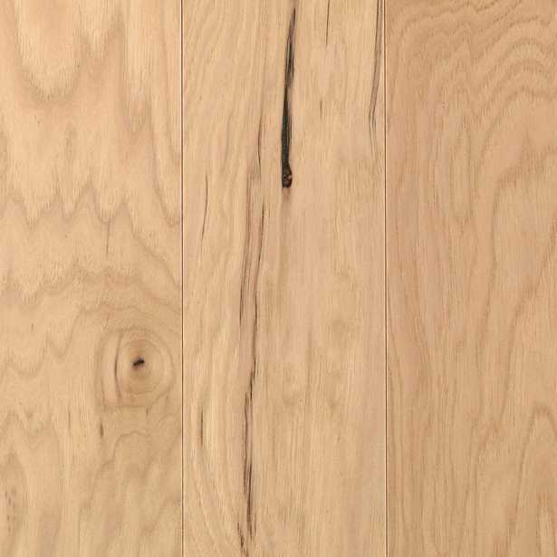 DISCONTINUED Take Home Sample - Pristine Hickory Natural Engineered Wood Flooring - 5 in. x 7 in., Light - Home Depot