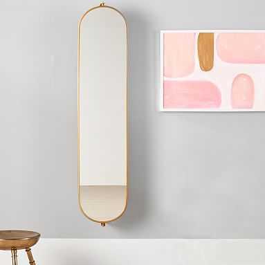 Swivel Pinboard Mirror, Gold - Pottery Barn Teen