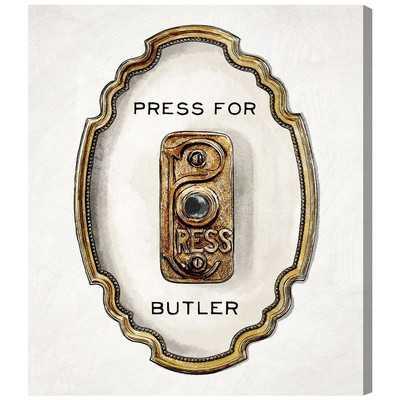 Press For Butler Graphic Art on Canvas - Wayfair
