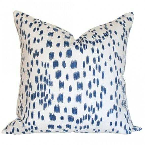 Les Touches Blue - 20x20 pillow cover / pattern on both sides - Arianna Belle