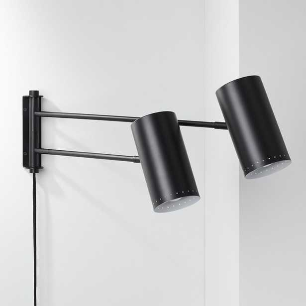 Duo Wall Sconce Black - CB2