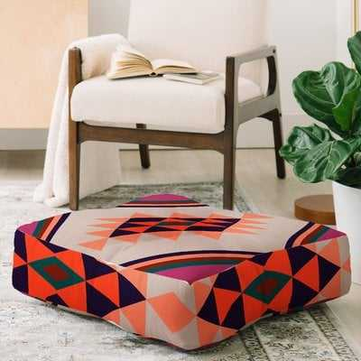 Zoe Wodarz Southwest Pin Dot Square Floor Pillow - Wayfair