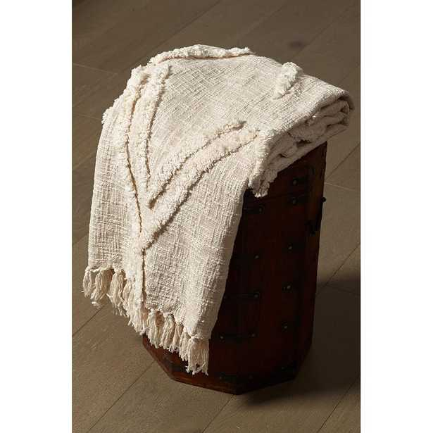 Natural Cotton Flynn Tufted Throw - Home Depot