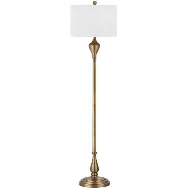 Safavieh Xenia 60.5 in. Gold Floor Lamp - Home Depot
