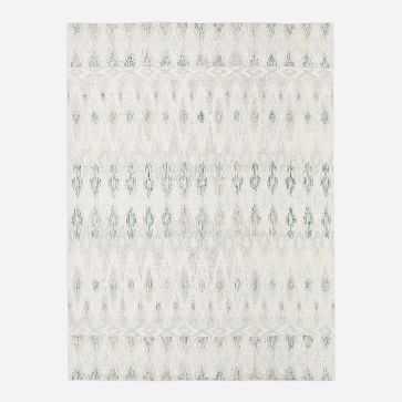 Textured Ikat Rug, Light Pool, 8'x10' - West Elm