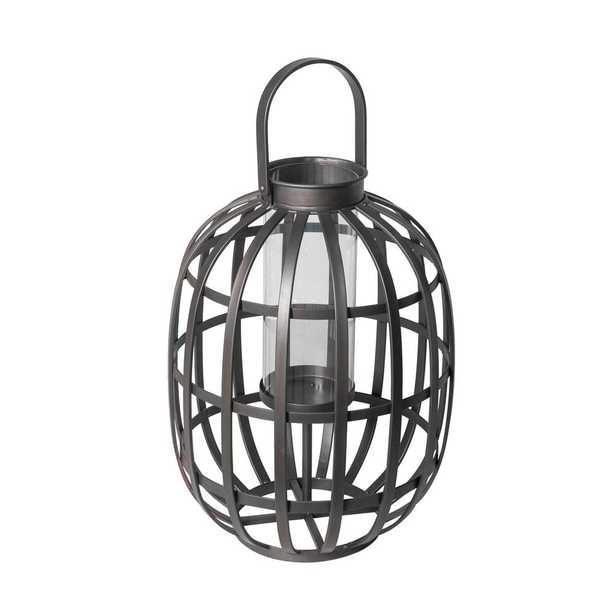 Hampton Bay Small Size Outdoor Metal Lantern - Home Depot