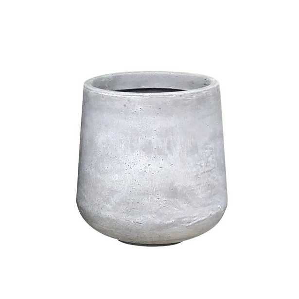 Large 16.5 in. x 16.5 in. x 13.4 in. Light Gray Lightweight Concrete Footed Tulip Planter, Light Grey - Home Depot