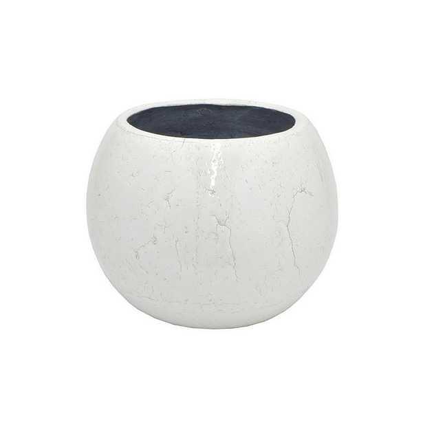 White Ceramic Planter - Home Depot