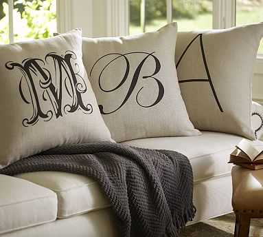 """Personalized Alphabet Pillow Cover, 18"""" - Pottery Barn"""