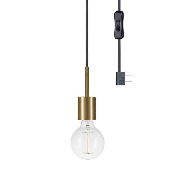 Globe Electric Leila 1-Light Brass Pendant - Home Depot