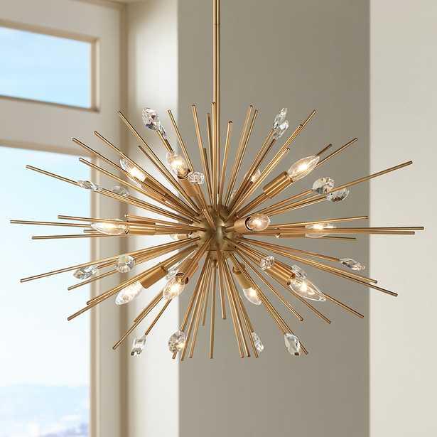Possini Euro Janae Antique Gold Pendant Light - Style # 1F063 - Lamps Plus