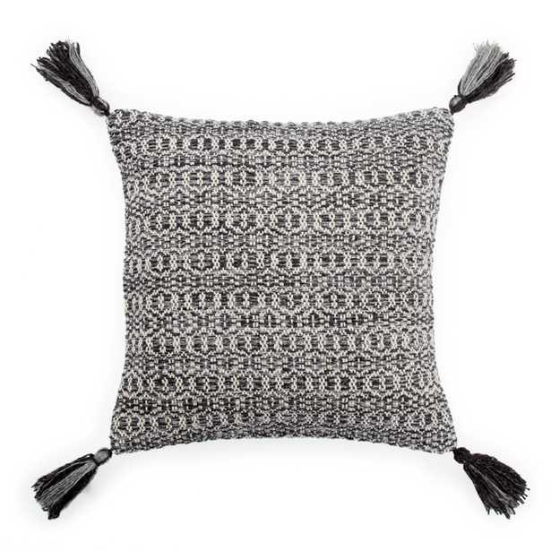 "Design (US) Black 18""X18"" Pillow - Collective Weavers"