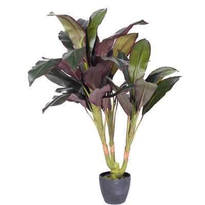 Real Touch Floor Dracaena Plant in Pot - Wayfair