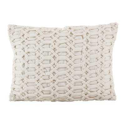 Kirby Smocked Textured Design Decorative Cotton Lumbar Pillow - Wayfair
