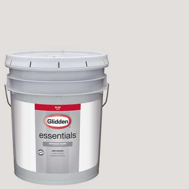 Glidden Essentials 5 gal. #HDGWN22U Light Pelican Grey Flat Interior Paint, Beige/Ivory - Home Depot