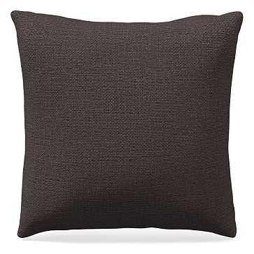 "20""x 20"" Pillow, Chunky Basketweave, Slate - West Elm"