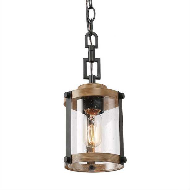 LNC Corta 1-Light Rustic Black Pendant - Home Depot