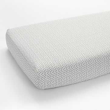 Organic Harmony Fitted Crib Sheet, Platinum - West Elm