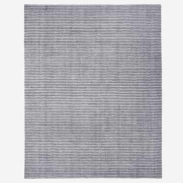 Terra Stripes Rug, Slate, 6'x9' - West Elm