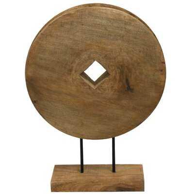 Armes Wheel Wood Carved Table Sculpture - Wayfair