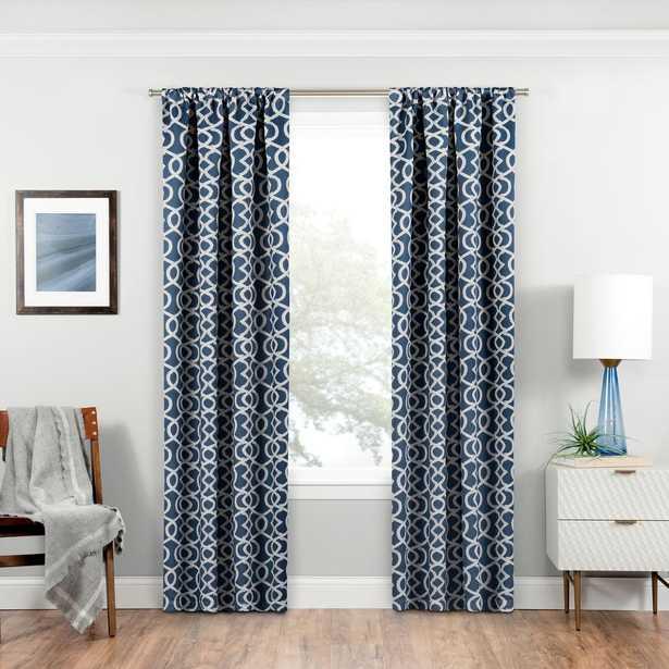 Eclipse Blackout Isanti 63 in. L Indigo (Blue) Rod Pocket Curtain - Home Depot