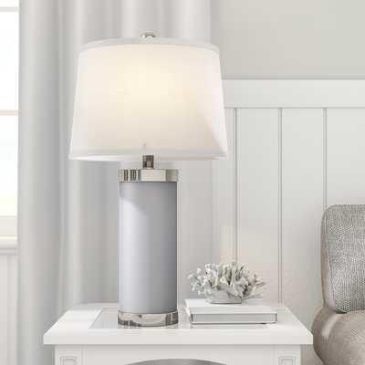 "Eurich Leather Column 26"" Table Lamp Set - Birch Lane"