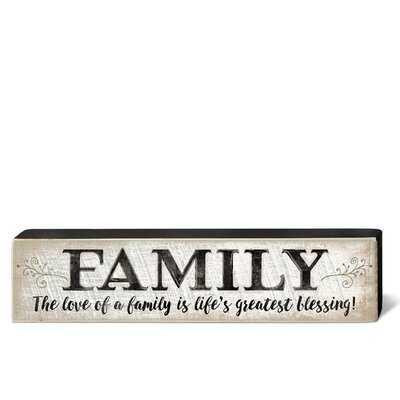 Gracie Oaks Rustic Wisdom Wood Blocks - Family - Wayfair