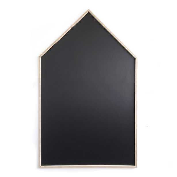 Quinco & Cie 30 in. W x 48 in. H Black Peel and Stick Chalkboard with Real Wood Boarder Self-Adhesive - Home Depot