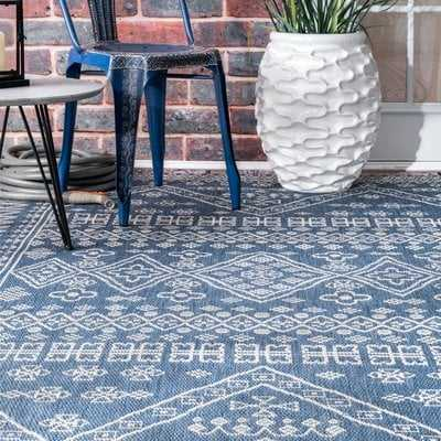 Zahara Blue Indoor/Outdoor Area Rug - Wayfair