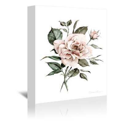 "'Faded Pink Rose' Print, 24"" x 36"" Cavnas - Wayfair"
