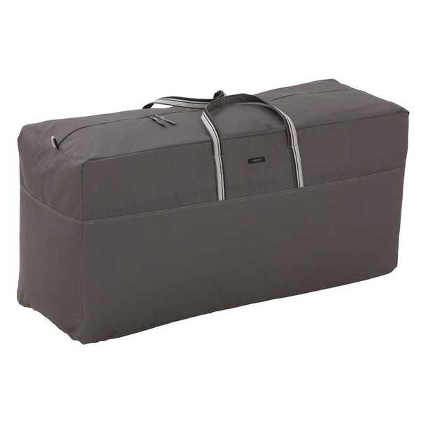 Classic Accessories Ravenna Patio Cushion Bag, Dark Taupe - Home Depot