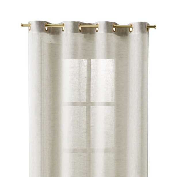 Natural Linen Sheer 52x108 Curtain Panel - Crate and Barrel